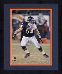 Framed Brian Urlacher Chicago Bears Autographed 16'' x 20'' Breating Air Out Photograph