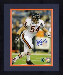 Framed Brian Urlacher Chicago Bears Autographed 8'' x 10'' Action Photograph