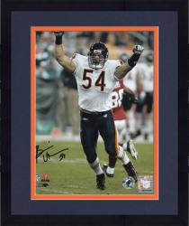 "Framed Brian Urlacher Chicago Bears Autographed 8"" x 10"" Arms Up Photograph"