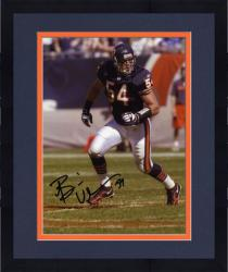 "Framed Brian Urlacher Chicago Bears Autographed 8"" x 10"" Blue Jersey Photograph"