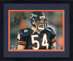 Framed Brian Urlacher Chicago Bears Autographed 8'' x 10'' Head Shot Photograph