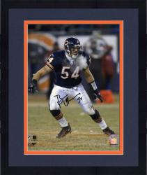 Framed Brian Urlacher Chicago Bears Autographed 8'' x 10'' Photo