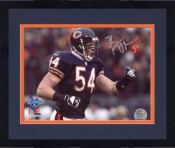 Framed Brian Urlacher Chicago Bears Autographed 8'' x 10'' Pump Fist Photograph