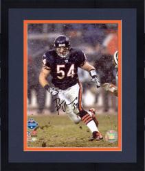Framed Brian Urlacher Chicago Bears Autographed 8'' x 10'' Snow Photograph