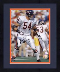 Framed Brian Urlacher Chicago Bears Autographed 8'' x 10'' Vertical Pose Photograph
