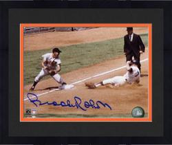 "Framed Brooks Robinson Baltimore Orioles Autographed 8"" x 10"" Tagging Mantle Photograph"