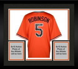 Framed Brooks Robinson Baltimore Orioles Autographed Orange Throwback Jersey with HOF 1983 Inscription