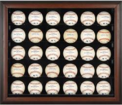 Brown Framed 30-Ball Display Case