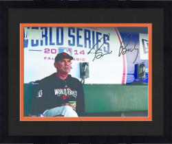 "Framed Bruce Bochy San Francisco Giants Autographed 8"" x 10"" 2014 World Series Photograph"