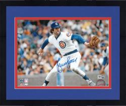 "Framed Bruce Sutter Chicago Cubs Autographed 8"" x 10"" Pitching Photograph"