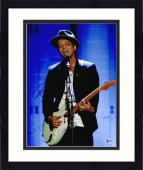"Framed Bruno Mars Autographed 11"" x 14"" Playing Guitar Photograph - Beckett COA"