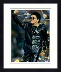 "Framed Bruno Mars Autographed 11"" x 14"" Waving Photograph - PSA/DNA"