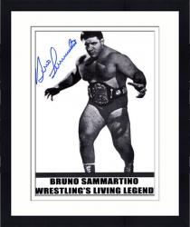 Framed Bruno Sammartino Autographed 8'' x 10'' Wrestling Living Legend Photograph
