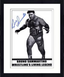 """Framed Bruno Sammartino Autographed 8"""" x 10"""" Wrestling Living Legend Photograph"""