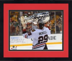 "Framed Bryan Bickell Chicago Blackhawks 2013 Stanley Cup Champions Autographed 8"" x 10"" Photograph with 2013 SC Champs Inscription"