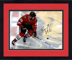 Framed Bryan Bickell Chicago Blackhawks Autographed 16'' x 20'' On Logo Photograph
