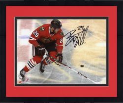 "Framed Bryan Bickell Chicago Blackhawks Autographed 8"" x 10"" Logo Photograph"