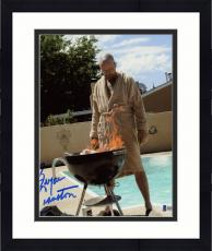 "Framed Bryan Cranston Autographed 8"" x 10"" Breaking Bad Burning Barbecue Photograph - Beckett COA"