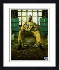"Framed Bryan Cranston Autographed 8"" x 10"" Breaking Bad Photograph - Beckett COA"