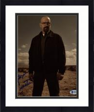 "Framed Bryan Cranston Autographed 8"" x 10"" Breaking Bad Standing in Desert on Photograph - Beckett COA"