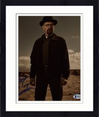 "Framed Bryan Cranston Autographed 8"" x 10"" Breaking Bad Standing in Desert With Hat on Photograph - Beckett COA"