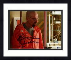 "Framed Bryan Cranston Autographed 8"" x 10"" Breaking Bad Wearing Orange Jumpsuit Photograph - Beckett COA"