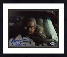 "Framed Bryan Cranston Autographed 8"" x 10"" Driving Car in Snow Photograph - Beckett COA"