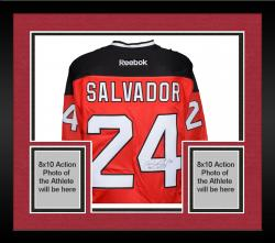 Framed Bryce Salvador New Jersey Devils Autographed Red Reebok Premier Jersey