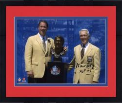 """Framed Buffalo Bills Marv Levy Autographed 8"""" x 10"""" with Jim Kelly Photograph with """"Hall Of Fame 01"""" Inscription"""