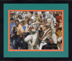 """Framed BUONICONTI, NICK AUTO """"HOF 01"""" (DOLPHINS/SB W/ BALL) 8X10 - Mounted Memories"""