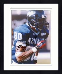 Framed Nate Burlson Nevada Wolf Pack Autographed 8'' x 10'' Close Up Running Photograph