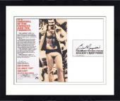 """Framed Burt Reynolds Autographed 27"""" x 40"""" Poster"""