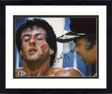 "Framed Burt Young Autographed 8"" x 10"" Rocky - Scream at Rocky Photograph - Beckett COA"