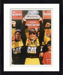 Framed Ward Burton Autographed 8'' x 10'' Caterpillar Two Arms Up Photograph