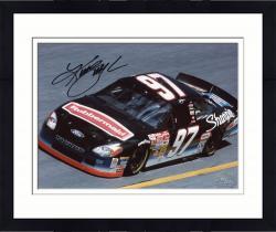 Framed Kurt Busch Autographed 8'' x 10'' Sharpie Rubbermaid In Car Photograph