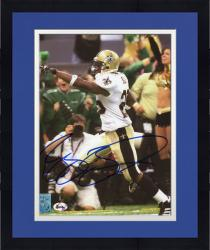 Framed BUSH, REGGIE AUTO (SAINTS/POINTING) 8X10 PHOTO - Mounted Memories