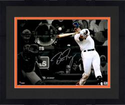 """Framed Buster Posey San Francisco Giants Autographed 11"""" x 14"""" World Series Spotlight Photograph"""