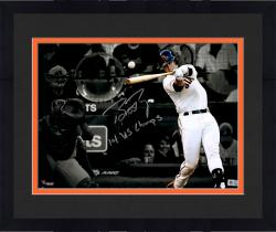 """Framed Buster Posey San Francisco Giants Autographed 11"""" x 14"""" World Series Spotlight Photograph with 14 WS Champs Inscription"""