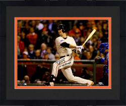"""Framed Buster Posey San Francisco Giants Autographed 16 x 20"""" Photograph with 14 WS Champs Inscription"""