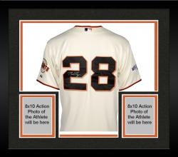 Framed Buster Posey San Francisco Giants Autographed 2014 World Series Home Jersey