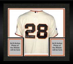 Framed Buster Posey San Francisco Giants Autographed 2014 World Series Home Jersey with 14 WS Champs Inscription