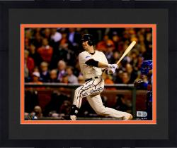 """Framed Buster Posey San Francisco Giants Autographed 8"""" x 10"""" Photograph with 14 WS Champs Inscription"""