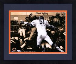Framed Dick Butkus Chicago Bears Autographed 11'' x 14'' Spotlight Photograph with HOF 79 inscription