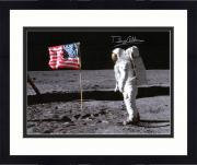 "Framed Buzz Aldrin Autographed 16"" x 20"" Moon Landing Photograph - PSA/DNA"