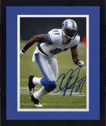 Framed Calvin Johnson Detroit Lions Autographed 8'' x 10'' Action Pose Photograph