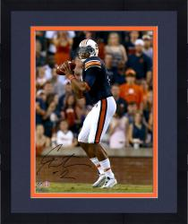 Framed Cam Newton Auburn Tigers Autographed 16'' x 20'' Looking To Pass Photograph - Mounted Memories