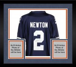 Framed Cam Newton Auburn Tigers Autographed Blue Jersey
