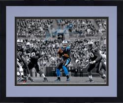 Framed Cam Newton Carolina Panthers Autographed 11'' x 14'' Spotlight Passing Photograph - Mounted Memories