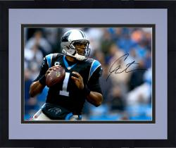 Framed Cam Newton Carolina Panthers Autographed 16'' x 20'' Horizontal Passing Photograph - Mounted Memories
