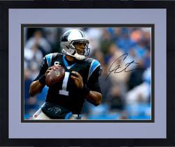 """Framed Cam Newton Carolina Panthers Autographed 16"""" x 20"""" Horizontal Passing Photograph"""
